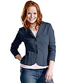 Deerberg Sweatblazer Yamina, dark-denim-gepunktet