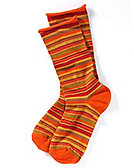 Ringelsocken 'Miria', orange