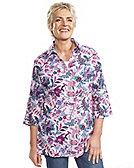 Deerberg Leinenhemd Ingrid, aster