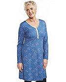 Deerberg Kleid Sue, dunkelpetrol-bedruckt
