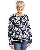 Deerberg Jacquard-Pullover Julie, marine
