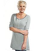 Deerberg Shirttunika Carla, jade-geringelt