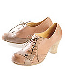 Gold Button Pumps Konstanze, taupe