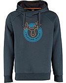 elkline Kapuzensweatshirt Thinkbigger, blau-grau