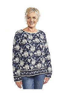 Jacquard-Pullover Julie